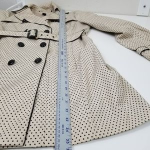 White House Black Market Jackets & Coats - WHBM Polka Dot Trench Coat Long Jacket Lining C6
